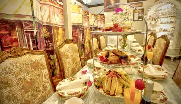 ViennaCafeAndBistroCooperCity High Tea private party Panels Tower mimosa 5