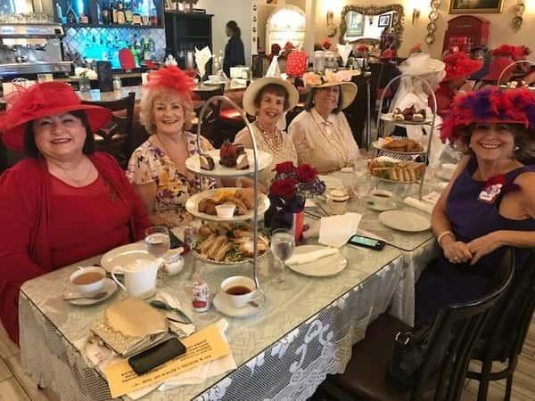 women dining
