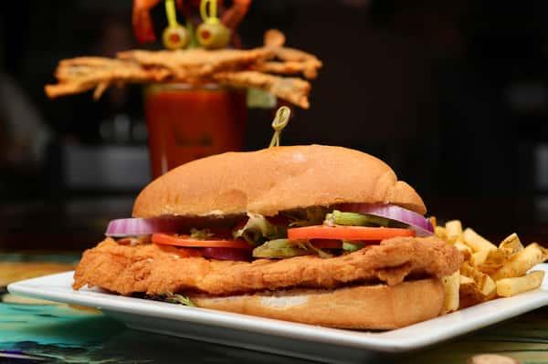 Atlantic Cod Fish Sandwich