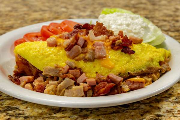 keto meat lover omelette