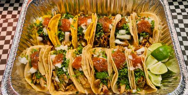 12 Tacos Rice and Beans *Fiesta*