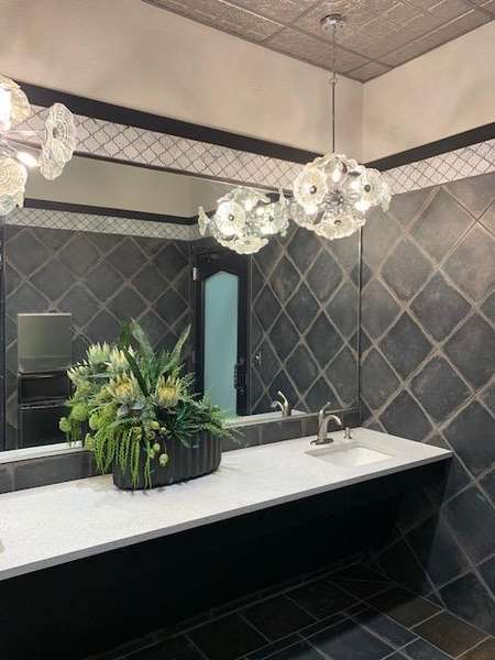 Interior of restrooms
