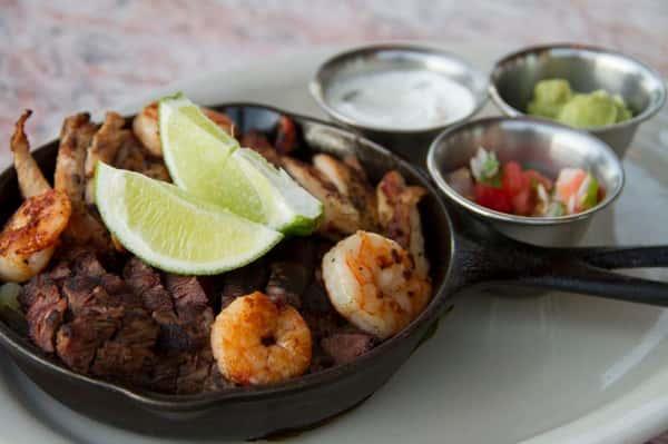 Beef, Chicken, and Shrimp