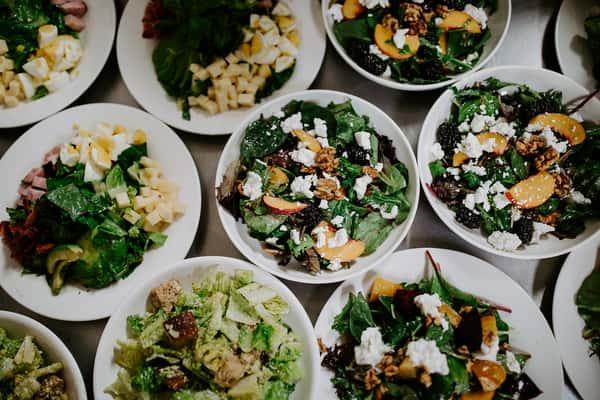 Salads made with Solano, Yolo and Sacramento county seasonal produce