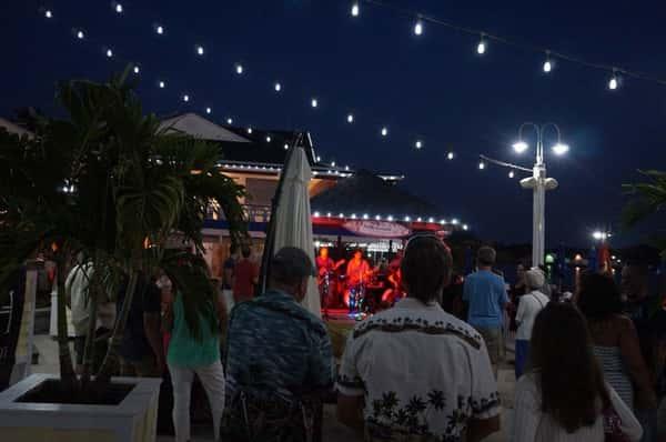 bleech band performing at night
