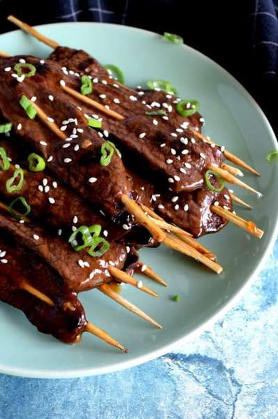 Teriyaki Steak Skewers*