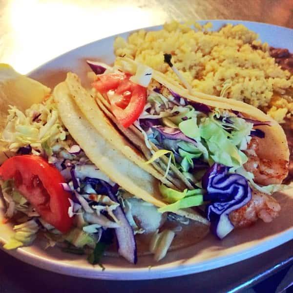 L-7. Two Shrimp Tacos