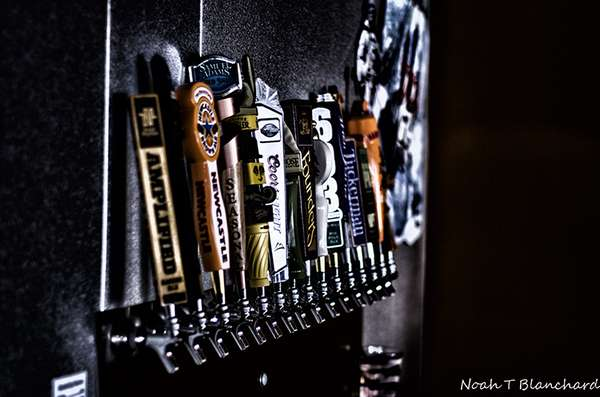 Beer taps available at Panzanellas Italian Pizzeria