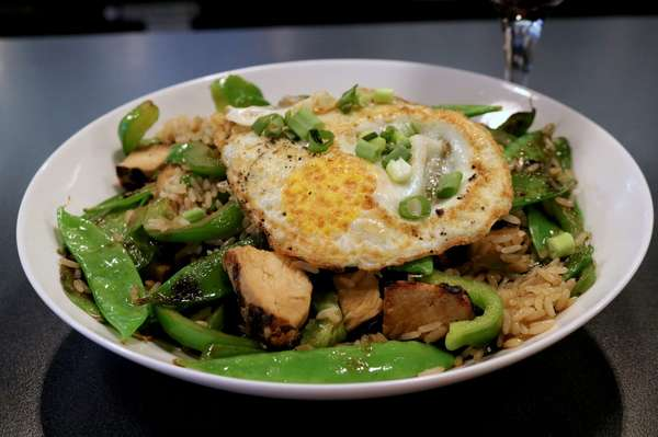 rice with an egg