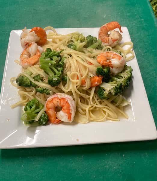 Linguini Broccoli Shrimps