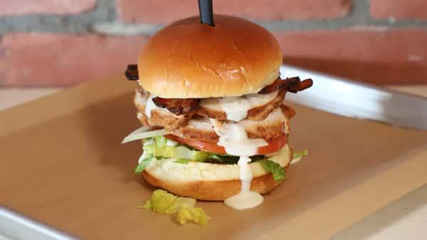 smoked chicken burger