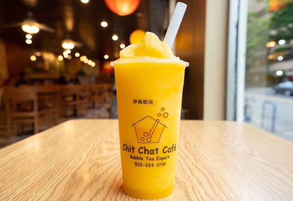 Mango Bubble Smoothies 芒果珍珠冰沙