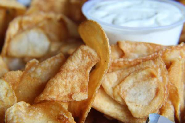 Home Fried Potato Chips