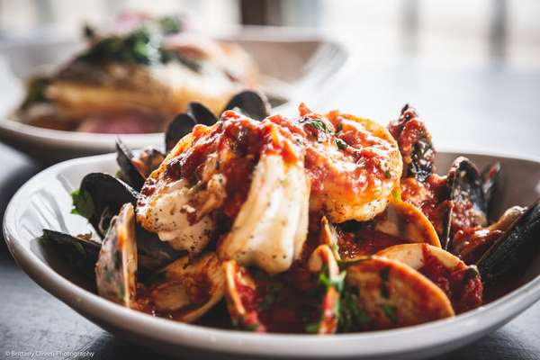 mussels and shrimp