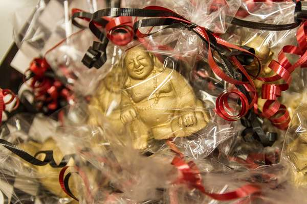 custom buddha chocolate at queen of hearts las vegas