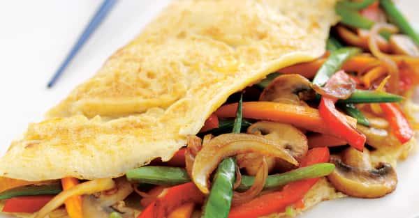 Grilled Veggie Omelet