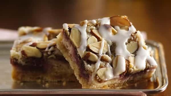 Gluten free Raspberry Almond Bar