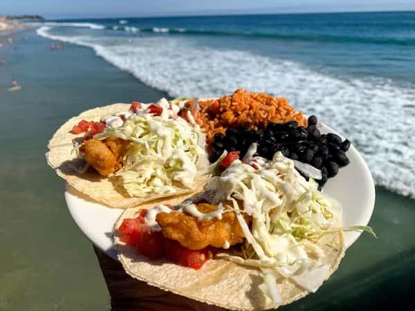 2 Deep Fried Fish Tacos