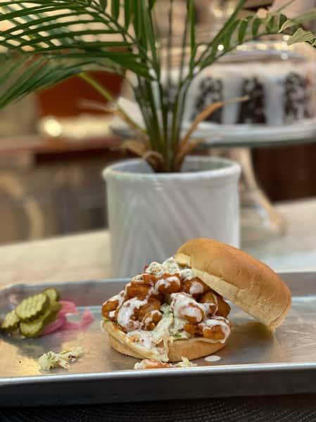 SOUL-Buffalo Shrimp Sandwich