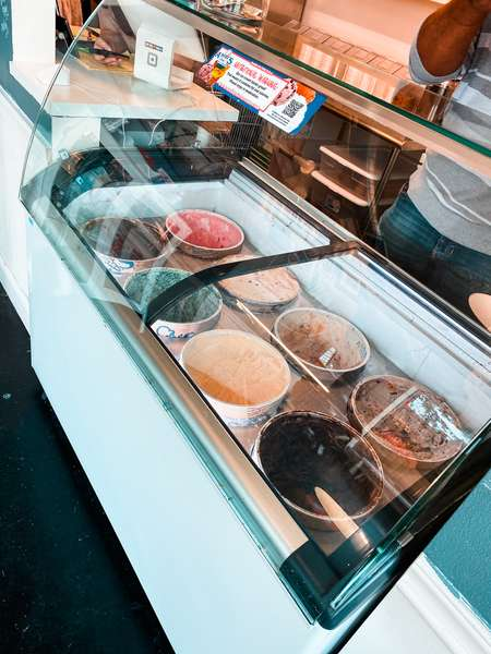 ice cream on display