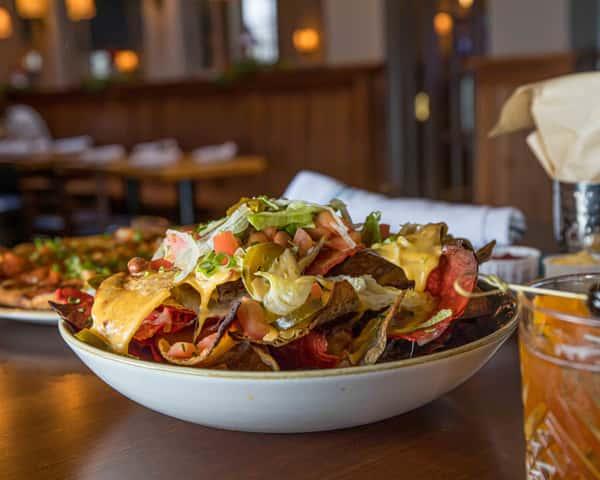 nachos on the bar