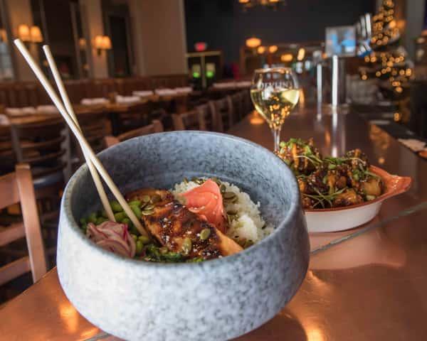 miso salmon bowl