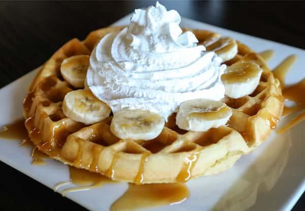 Banana Caramel Waffle