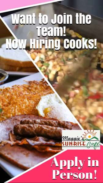 Currently Hiring Cooks!