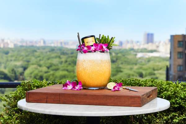 cocktail with skyline