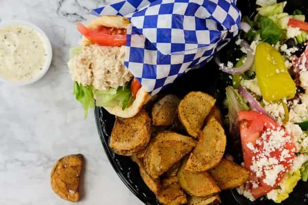 Tuna Salad Wrap Plate