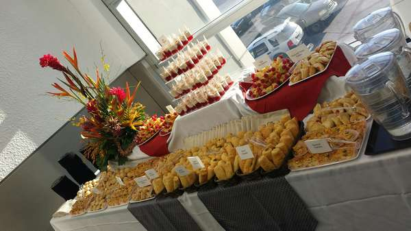 American breakfast catering spread