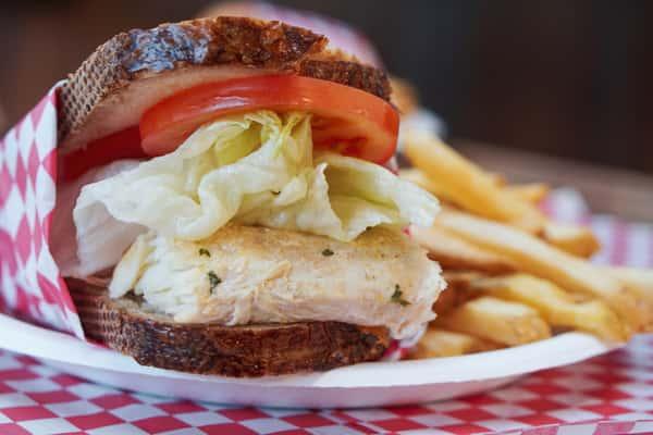 Smoked Halibut Sandwich