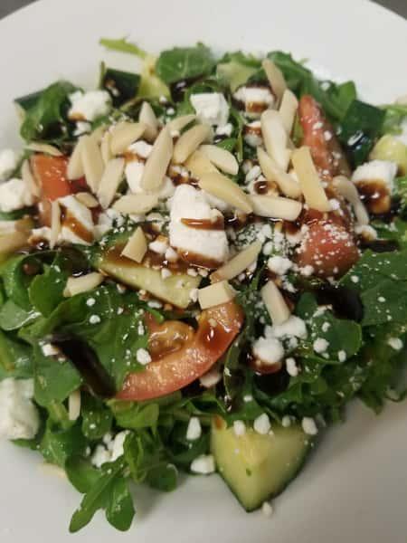 Cucmber and arugula Side salad
