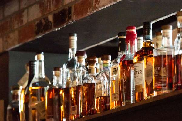 bourbon on a shelf