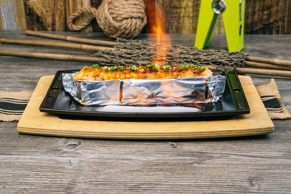 Salmon Flame Roll