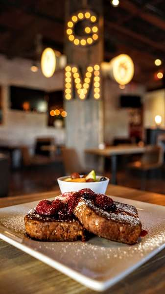 French Toast with background