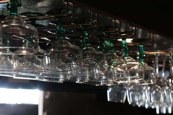 glasses hanging