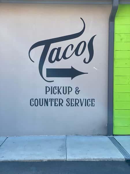 exterior tacos sign