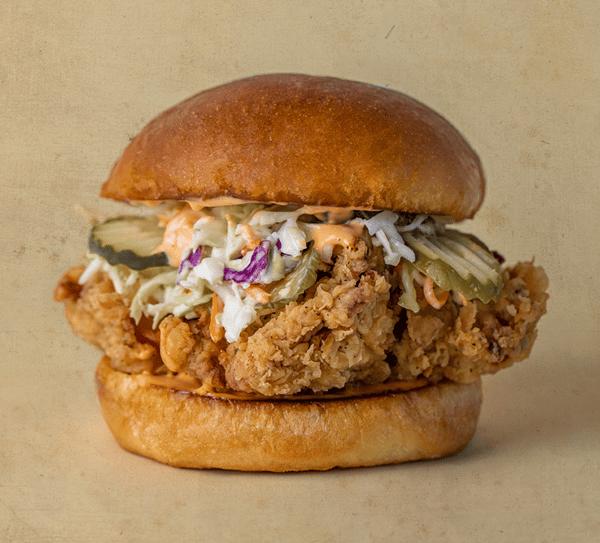 Corky's Clucker fried chicken sandwich