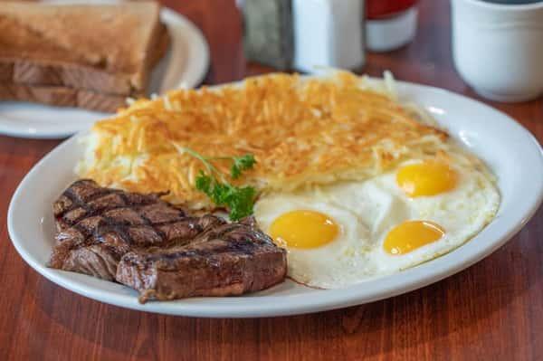 Top Sirloin Steak & Eggs