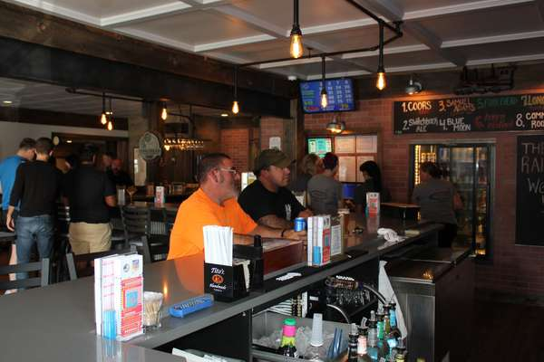 Interior crowded bar