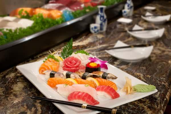 colorful sushi entree