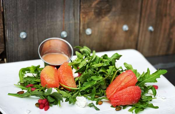 arugula~grapefruit salad
