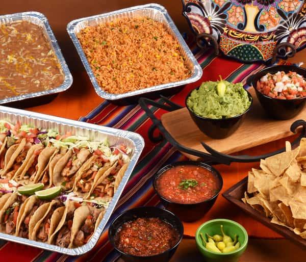 banquet rice, tacos, chips & dip