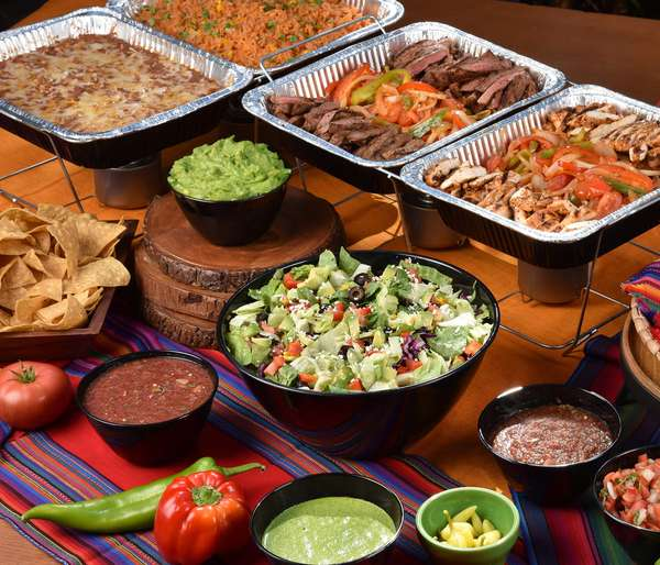 banquet food display