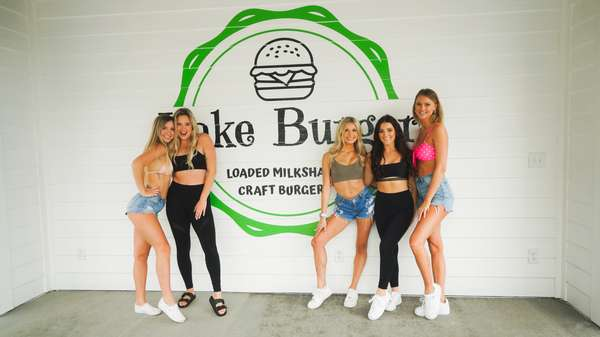 Lake burger wall and women