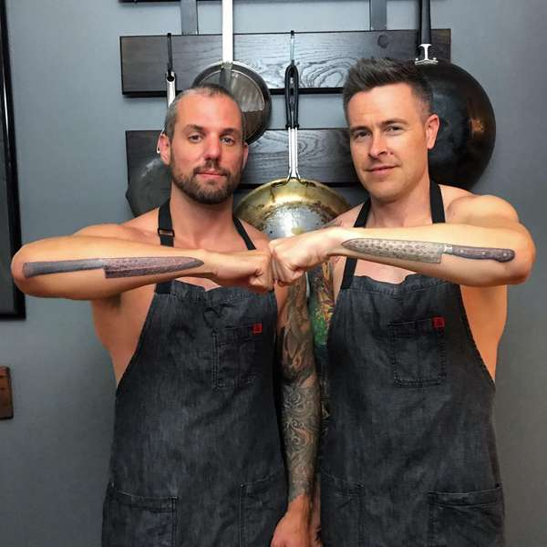 Chefs showing Knife tatoos