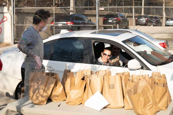 curbside bread pickup station