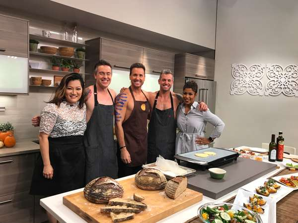 chefs with party guests