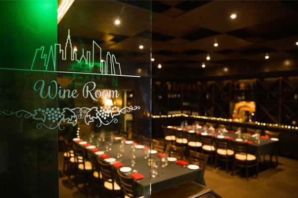 interior seating of wine room